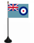 RAF Ensign Desk / Table Flag with plastic stand and base.